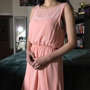 Pastel Pink High-Low dress || Forever 21